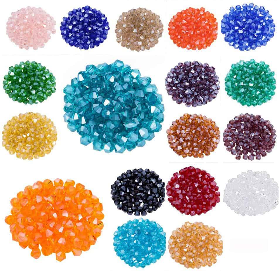 crackle glass beads are great accessories for your bracelet making or gift making craft projects Diy jeweley project 200pcs 4mm Blue Crackle Glass Beads