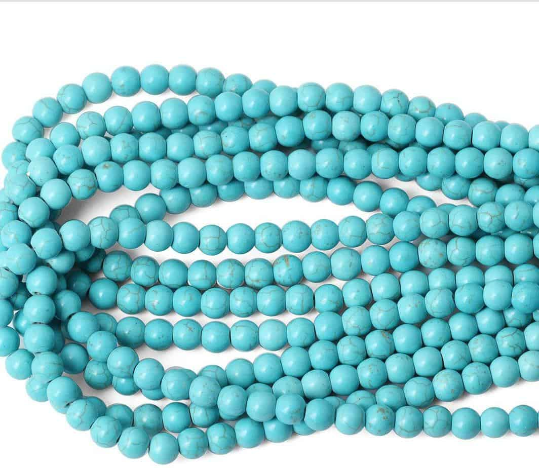 South Sea Shell Pearl Round Beads 8mm Blue//Silver 45 Pcs Art Hobby Jewellery